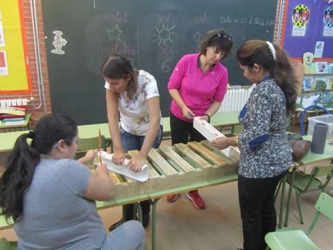 Pares i mares al projecte pati infantil